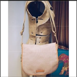 Dooney & Bourke Beige Canvas w/ Flap Messenger Bag